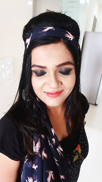 I created a Smokey Eye Look on my friend!  just loving it.... #makeup #smokyeyes #indianskin #basicmakeup #hairstyle #retro #youtuber
