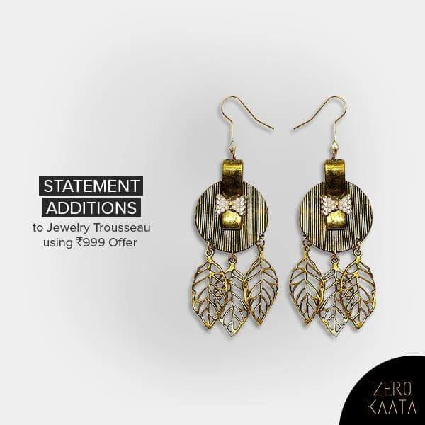 Ge your hands on our exclusive urban collection earrings with 999 offer to get an assured gift from the house of Zero Kaata.   Come, splurge on our exquisite collection here : https://goo.gl/eFkcys  #zk #zerokaata #fashion #jewelry #style #fashionbloggers  #fashionista #Blogger #styleonfleek #trendalert #fashionshow #fashionfiles #stylegame #vogue #aiwf18 #aiwfss18 #springsummer2018 #fashionshow #thatstreetchic #delhiblogger #fashionblogger #nexalifestyle #streetstyle