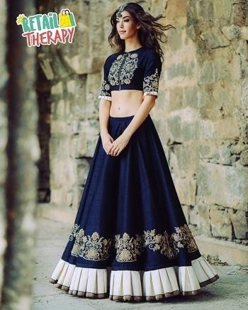"R1036 Name : Susmita sen Blue Butta Lehanga Lahenga:-Blue Color Banglori SIlk BLause:-Blue BAnglori Silk With Zip (.80 MTr semi stitched)  Inner: Heavy Rotta   DUPATTA:-2.25 MTR  net  Work : Heavy zari Embroidery Work Type:Semistiched Size:Max 42"" (semistitch) Length : 44"" Flare: 3.50 Mtr.  #bollywoodcollection #ethnicindia #ethnic-wear #desilook #top-skirt #skirtlove #lehengacholi #retailtherapy #gowns"