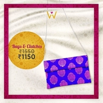 Pair this royal blue handbag from WedLista.com with your vibrant attire for the wedding party you attend!  SHOP NOW: http://bit.ly/WL_BagsClutches  #WedLista #FashionForWeddings