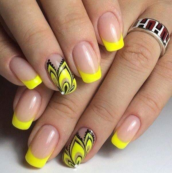 #styleoftheday #yellow #frenchmanicure