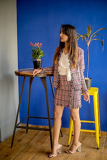 "Already welcoming the spring by wearing this super cool frayed coat & skirt set from @sheinofficial🍁 . . You can shop this look here: http://bit.ly/2SR3kxK or  search id- 625045 . . Use my code ""ekhaQ1"" during checkout time to enjoy 200rs off on order over 2000rs . . 📷- @r.d.photographyy . . #fashionblogger#fashioninfluencer#lifestyleblogger#suratblogger#indianblogger#bloggerlife#shein#sheingals#frayedcoat#skirt#twopieceset#springoutfit#lovewhatiamwearing#fashiongram#fashionista#instamood#riyalekhadia"