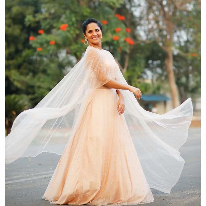 """She lives life in her own li'l fairytale"".... For #Jabardast #tonight #300Special  PC: @valmikiramu #anasuyabharadwaj"