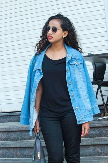 #bloggerlife #bloggerstyle #blogpost #fashionista #denim-love #denimskirt #roposotalenthunt
