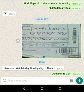 Grt response from cust....  Plz contact 8285254273  We are genuine sellers.... #appriciation