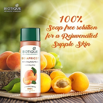 Do you know you can wash all the dirt off your body without losing the skin's moisture? Try Bio Apricot! Made with 100% botanicals, this body wash cleanses your skin gently and keeps it hydrated & soft.  #PureIngredients #Botanical #Biotique #Organic