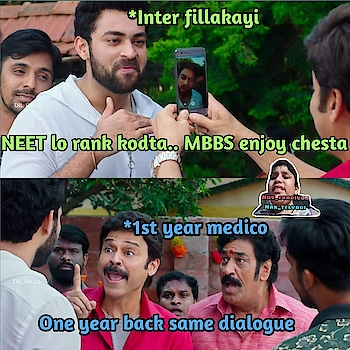 MBBS chadivey vallaki telustadi anyway hatsoff medicos ....   #telugumemes  #crazymemes  #medicine  #intermediatesong  #medico  #medicasm #funnymemes  #love  #mbbs