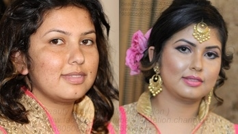 #transformation #work #engagement #makeover #glossy #hd #makeup #contour #on #fleek #nude #lipstick #simple #eyes #side #messy #bun #curls #himchali #bride #lovemywork #client - Ruhi sharma  #hair and #makeup #artist - #Gagz Brar  booking - 7087555656, 9888050866