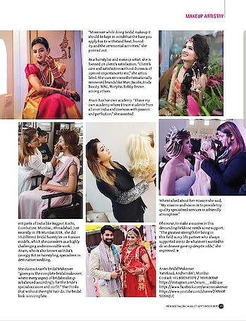 ANAM'S BRIDAL MAKEOVER  #anamsiddique #hairstylistworldwide #hairstylist #makeupartistindia #hairpost #weddingsaga #weddingwirerated #makeupartists_worldwide  NEW AGE  SALON  MAGAZINE