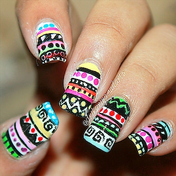 Freehand Multicolored Tribal / Aztec Nailart. . . . . . . . . #tribalnails #aztecnails #nailsoftheday #nailart #nailartclub #nailartdesign #nailartwow #nailartaddict #nailartist #nailartdesign #lovefornailarts #instanailart #instanailstyle #instanails #nailartblogger #easynailart #nailartlove #nails #nailarts #nailpolish #nailartworld #nailartoftheday #fashonista #fashion #fashionblogger #drikpriya #freehandnails