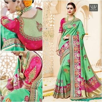 Buy Now @ https://goo.gl/NB85hd  Subtle Sea Green Art Silk Designer Traditional Saree  Fabric-Art slik  Product No 👉 VJV-TATH1003  @ www.vjvfashions.com  #lehengasaree #sarees #indianwear #indianwedding #fashion #fashions #trends #cultures #india #instagood #weddingwear #designer #ethnics #clothes #glamorous #indian #beautifulsaree #beautiful #lehengasaree #lehenga #indiansaree #vjvfashions #pretty #celebrity #bridal #sari #style #stylish #bollywood