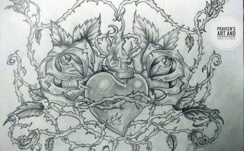 Vintage Heart! 💖 trapped in Love... 😞🖤 #illustration  #vector  #designer  #ornate  #decoration  #artsy  #pattern  #leaf  #flowers  #vintage  #graphic  #abstract  #naturelover  #elements  #shades #love #heart  #tagsforlikes #roposotalenthunt