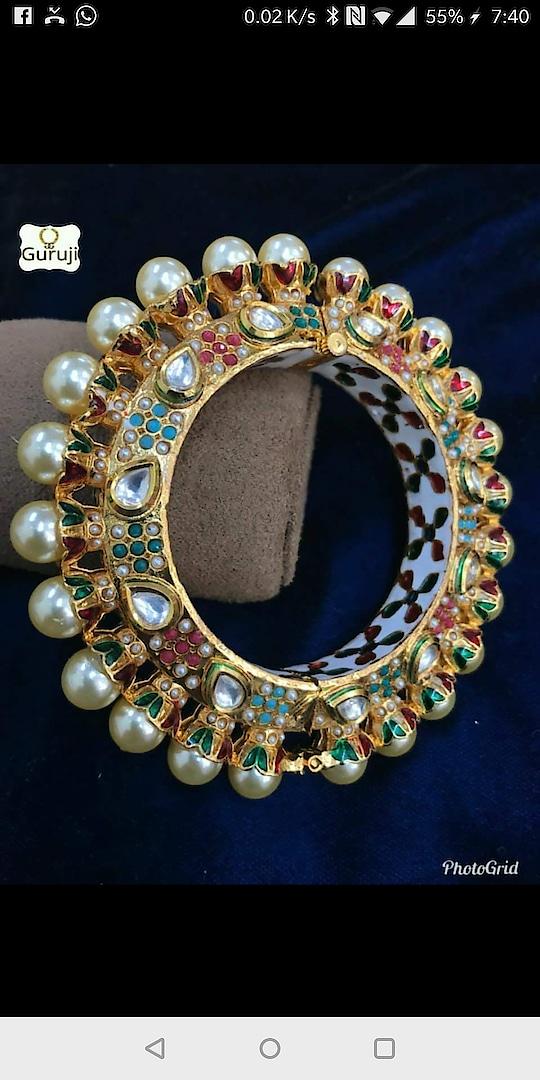 Authentic pacheli design#jadau bangle in rajwada style