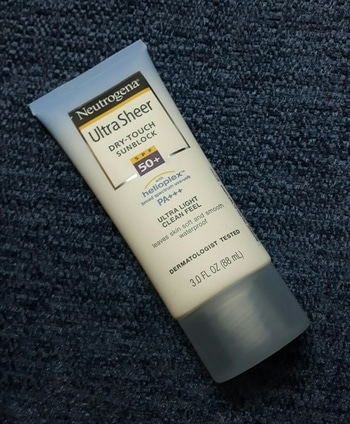 hallo guys I have one more amezing hand picked sunscreen for u all. its by #neutrogena . it is one of the best sunscreen called ultrasheer and it get absorb in skin instantly. this sunscreen have brod spectrum ubha.uvb pa+++ spf-50+ so as compares to previous sunscreen it give more protection and help to have eventone skin.this sunscreen cost around 549rs.#roposogal #roposostyle #roposome #roposo-good #roposo-style #neutrogena #neutrogenaindia #neutrogenanaturals #neutrogensunblock #neutrogelove #skincare #sunblock #sunscreenforoilyskin #suncream #sun-kissed #sunscreen #sunshinegirl #roposostyle #loveforever #lovemylife #lovemyself #lovemywork #loveposing #lovemyfollowers #lovemyskin #lovetoall #beingindian #roposoindianblogger #indian #navimumbaiblogger #different-is-beautiful #diffrentlooks #diffrenttaste #beingdifferent #beingconfident #beingclassy #beingclassyandsexy  #beautycreator #reviewoftheday #reviewblogger #reviewblog #reviewer #spf50 #spf #dryskin #waterproof #ultra #lovemywork #skincareroutine #skincareindia #skinfriendly #beautygrin #beautyinfinite #beauty #beautyqueen #sassy #confidenceissexy #confidentgirls #confidenceisbeautiful #braveheart #roposomakeupblogger #fashionandlifestyleblogger #fashionbloggermumbai #suncare #love #carefree #passionforfashion #passionforlife #woman-fashion #lovemake-up