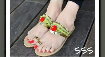 a beautiful sexy feet, well painted toe nails and shaped. crafted footwear makes it appealing more..#feeflove, #beautifiedfeet