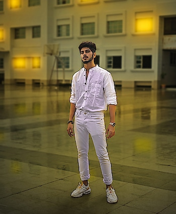 """White is so breatheable ! . . Shot by - @thedaydreamstudio . . Hair artist - @hairfactorysurat . . DM """"TRANSFORM"""" To get style consultation from me ! . . #TSDFAM  #thestyledweller  #sneakers #wirelessearphones #fashion  #fashionblogger  #fashioninfluencer  #indianfashioninfluencer  #influencer #explore #men #instagram #tsdonexplore #mensfashioninfluencer  #mensfashion  #menswear  #ootd #wiwt #trouser #white #hairstyle  #menshair #suratfashionblogger  #suratinfluencer  #indianblogger  #indianfashioninfluencer  #india  #surat"""