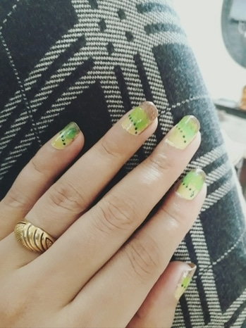 #nail art #spunz nail art#summery colours#nail love# art lover#so roposo# roposo  lover