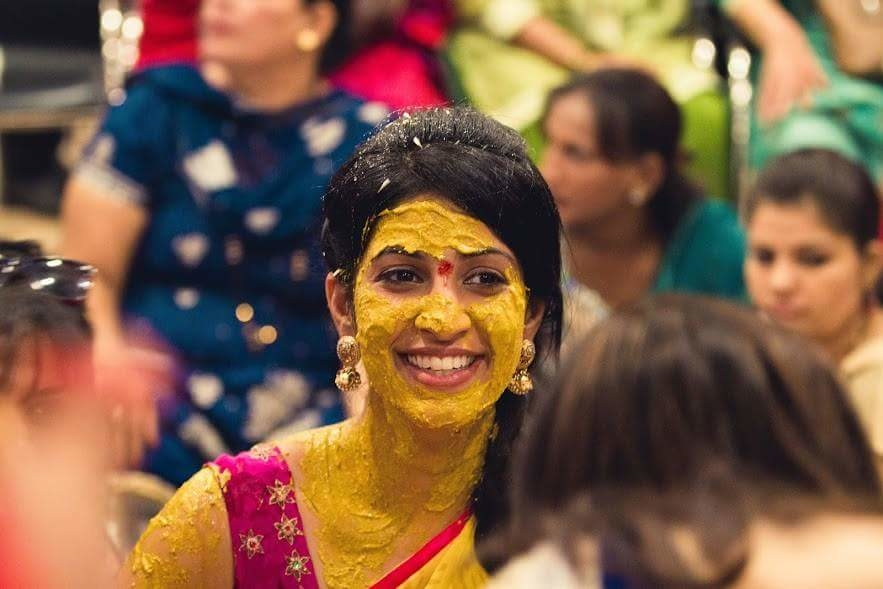 'Haldi', the most colorful ceremony of Indian weddings, gives the photographer the perfect shot.  #HaldiCeremony #Haldi #WeddingRituals #WeddingPhotographers #Wedding #Photographers #Sunshine #rainbow #Couples #IndianWedding #WeddingStory #NKphotography #Colours #coloursplash #IndianWedding #ForeverMoments #love #Candidweddingphotohgraphy #CandidPhotography #togetherforever #beautiful #brideandgroom #Photooftheday #potd #instagood #instapic