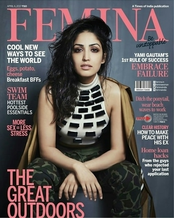 Yami Gautam sizzles on the cover of Femina for April edition. Crop Top by Kanika Goyal Label Sweat Pants at Adidas Bomber Jacket at Huemn Styled by-Ahmed Mehera Hair and makeup by Florian Photographed by Rohan Shrestha.