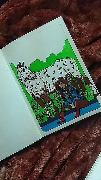 Saw this unique horse online and I HAD to draw it. #creativespace #roposostar