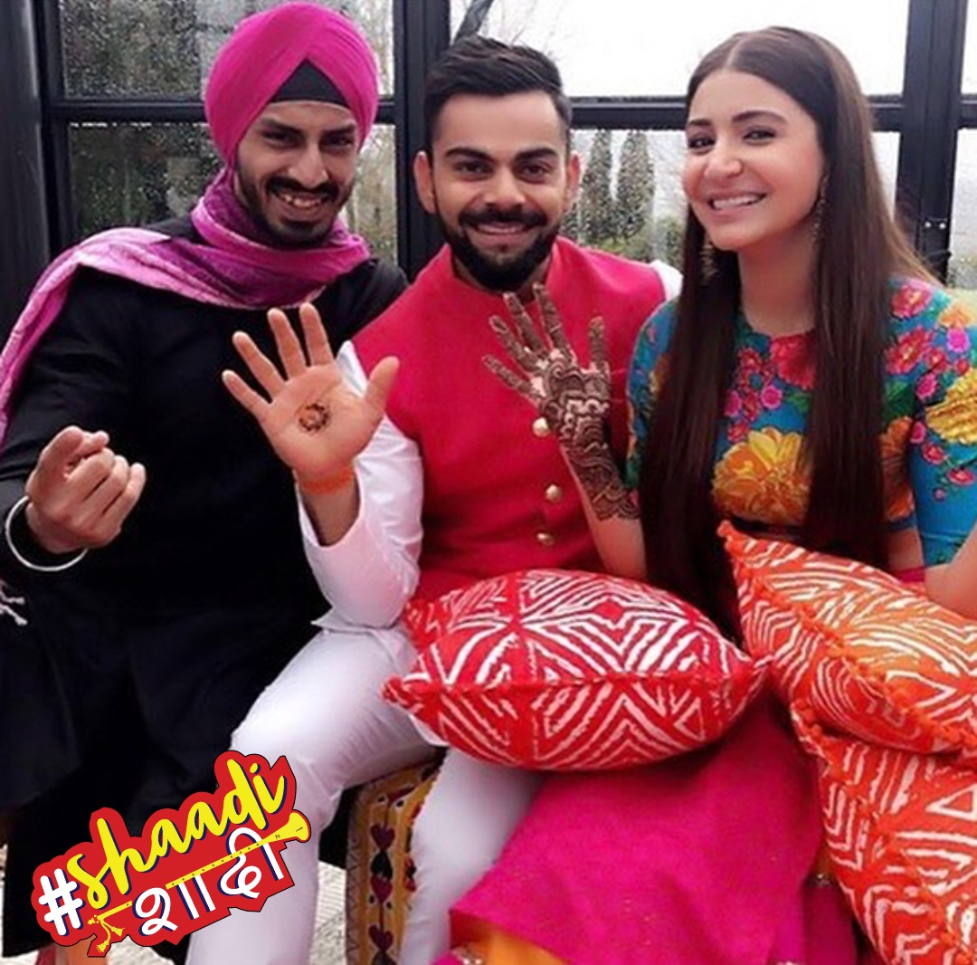 @anushkasharma weds @imviratkohli ..... Finally the wait is over. #newlywed #celeblove #celebcouple #shaadishaadi
