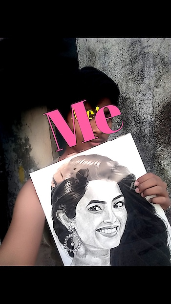 me with my drawing #arts #sketchbook