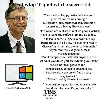 Bill gates quotes to br successful.  @The.business_builder / @thebuilder   #thebusinessbuilder #entrepreneur #business #hustle #grind #success