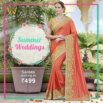 Summers are almost here, and it's time to update your wardrobe with light and breezy sarees!  WedLista has brought you some amazing saree designs for summer that will take your ethnic style a notch up.   #WedLista #FashionforWeddings #SummerWeddings