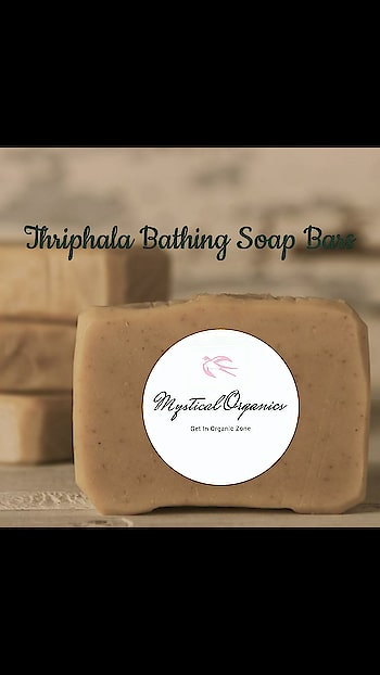 THRIPALA BATH SOAP HOMEMADE, HANDMADE ORGANIC   Triphala  delay skin aging ,anti-inflammatory fight with skin  rashes , itching, redness, swelling, burning sensations, sore, red patches, discoloured skin, rashes, and pimples.  Skin irritations, very good in scabies, dry skin, and wrinkled skin. Protract skin from UV rays give an extra moisturizer to skin.  INGREDIENTS TRIPALA, COCONUT OIL   Triphala Soap No Caustic Soda No Paraben No SLS or SLES No Added Colour and Aroma Aloin Filtered Aloe Vera Triphala Extracts Not Tested on Animals Shelf Life 24 months Indication Anti septic Acute Dehydration Acute Itching and Skin Infection Anti aging Decreases pigmentation Removes scar marks Skin Rejuvenation and Refreshing Acute Skin Ailments  Weight 100 gms Price 199/- SHIPPING EXTRA WORLDWIDE SHIPPING AVAILABLE  IMPORTANT NOTE: NOT TESTED ON ANY ANIMALS 100% CHEMICAL FREE  100% HERBAL ORGANIC NO ARTIFICAL COLOR OR FRAGRANCE USED SUITABLE FOR ALL CHILDRENS, MENS & WOMENS  NO COD  PAYMENT MODE- BANK TRANSFER, BHIM DELIVERY 5-7 WORKING DAYS UPON PAYMENT CONFIRMATION.  CLICK THE BELOW LINK AND PLACE YOUR ORDER. http://m.me/mysticalorganics  LIKE OUR PAGE FOR DAILY UPDATES  https://www.facebook.com/mysticalorganics/  #SKINCARE #HERBAL #HOMEMADEHANDMADE #CHEMICALFREE 100% #ORGANIC