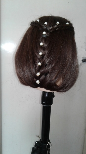 prom bridal hairstyle wid french for long hair for functions any occasionz wid juda.... if u want any order send me mgs in inbox only in hyderabad    # Indian hairstyle # parties hairstylez  #hairstyleing #hair # bridalhair # bridal look # professional hairstyle # traditional hairstyle  # party look # mangtika # hairstylist  if u want classess mgs me   if u want see more hairstylez click in diz page   Shadow hair stylish fashion