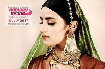 Runway Rising 5 July Ashok Hotel, Delhi  Regal Touch!  Make your big day even bigger by adorning these timeless jewellery pieces by #ShriHariDiaGems. Make sure you visit them at #RunwayRising for splendid shopping experience.