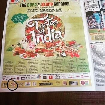It doesn't get bigger than this ..!! My logo - *Dine Dazzle Dive* reappeared in telegraph today !!   Hope to see all of you this weekend at Tastes of India (Nalban)..  #dinedazzledive #foodblogger #foodfestival #food #foodlover #kolkatafoodblogger #kolkata