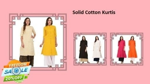 _This solid COTTON kurtis are always classy. They offer utter comfort and style statement round the clock. Wear them and flaunt any occasion._
