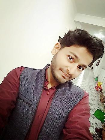 #lookgoodfeelgood #redlove #new-style #half-jacket #celebrations #marriageseason #marriage ceromony #allsmiles #allahabad