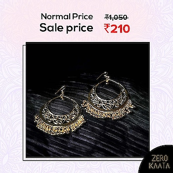 """❤ India's Biggest Earring Sale❤ . . 😁"""" You Will Loose Your Favourite Earrings If They Stock Out """" 😁 . . India's Biggest Earrings Sale only on ZeroKaata😍😍 . SHOP NOW for Unique and Skin Friendly Designs at Flat 80% Off . . Visit www.zerokaata.com . . #jewellery #jewelry #jewelrysale #jewellrydesign #earringsale #earringshop #earringsogood #giveaway #fashionblogger #jewelleryshop #JewelleryBlog #sales #NecklaceHandmade #earringshandemade #jewelrymaking #jewelleryaddict #jewellerygram #jewellerysale #IndiasBiggestJewellerySale  #sale #dresses"""