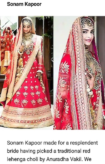 #sonamkapoor in #lehenga-for-wedding by #anuradhavakil #fashionquotient #celebration #filmistaanchannel