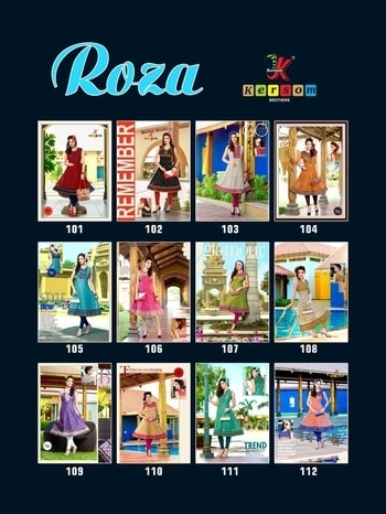*We are Back!!!!😃😃😃* *ROZA* Fabric :- *Pure Heavy Printed Kora Silk Quality(With Inner)* *Work Concept* *45* Length *45+ Flair(Gera)* Rate :- *625/-* Sizes :- L,XL,XXL Single Matching *12* Designs Delivery :- *Within 7 Days*