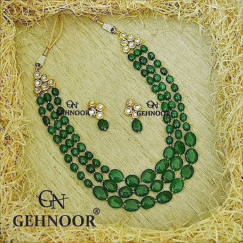Our Love For Emeralds never ceases to exist! 💚💚 We just can't believe how Droolworthy this Layered Neckpiece looks & how many clients till date have adorned these Beauties with Grace & Ease! 💚💚 . Grab these Bestsellers as part of our Colorful Jewellery Collection of Glorious Greens! 💚 . www.gehnoor.com 💻 . FREE SHIPPING anywhere in India 🚙 . Cash On Delivery Available across India 💲 . WhatsApp at 07290853733 📱 . www.facebook.com/Gehnoor/ . gehnoor@gmail.com 📝 . #necklace #earrings #goldjewellery #kundan #kundanjewellery #indianjewellery #india #indianbride #indianwedding #asianwedding #traditionaljewellery #jewelry #jewellery #onlineshopping #shopping #jewellerygram #photooftheday #postoftheday #trendsetter #ontrend #everydayphenomenal #usa #canada #uk#saudiarabia #uae