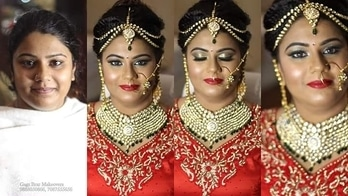 #mua - Gagz Brar booking - 9888050866 , 7087555656  Before and after #Chennai #bride got #married in #Shimla #hd #airbrush #bridal #makeover #glossy #look #makeupartist #hairstylist #GagzBrar #gagzbrarmakeovers #BeautyStation #makeupatyourvenue