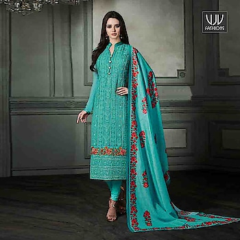 Buy Now @ http://bit.ly/VJV-ARIH36002  Fabulous Turquoise Color Georgette Designer Suit  Fabric- Georgette  Product No 👉 VJV-ARIH36002   @ www.vjvfashions.com