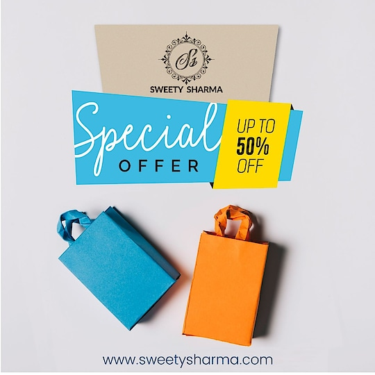 Hurry Guy's Special offer up to 50% off only on www.sweetysharma.com