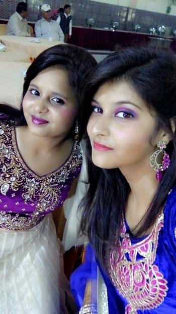 #bestie_marriage #enjoyingeverymoment  #pinkblue #feelingbeautiful  #sisters #sisterlove
