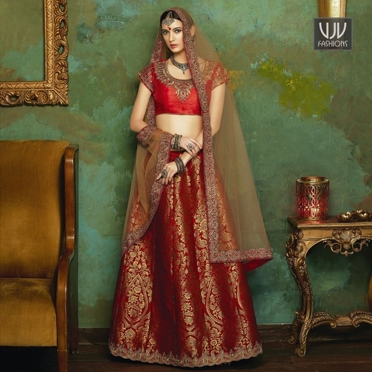 Buy Now @ https://goo.gl/A5sCTk  Excellent Jacquard Red Color Lehenga Choli  Fabric- Jacquard, Silk  Product No 👉 VJV-UN20006  @ www.vjvfashions.com  #chaniyacholi #ghagracholi #indianwear #indianwedding #fashion #fashions #trends #cultures #india #womenwear #weddingwear #ethnics #clothes #clothing #indian #beautiful #lehengasaree #lehenga #indiansaree #vjvfashions #bridalwear #bridal #indiandesigner #style #stylish #bollywood #kollywood #celebrity #outfits #vjvfashions #lehengas