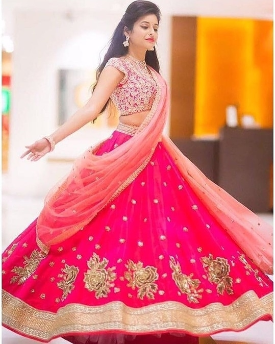 Looking for something different in #DesiStyle #LehengaCholi Check out this Elegant LehengaCholi Now Just for ₹ @2750/- INR Only  FABRIC👉CHANIYA:-HEAVY BANGLORY SILK👉DUPATTA:-RANI NET👉BLOUSE:-HEAVY BANGLORY SILK  For Place the Order, Call or DM or Whatsapp: +91 8866570406 Cash On Delivery Available In India ! Worldwide Shipping ! ✈ Book Now !