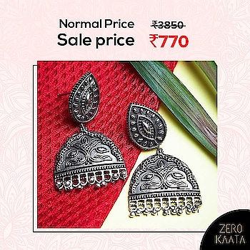 """❤ India's Biggest Earrings Sale❤ . . 😁"""" A Never Before Event, Grab Your Favourite Earrings at Flat 80% Off """" 😁 . . India's Biggest Earrings Sale only on ZeroKaata😍😍 . SHOP NOW for Unique and Skin Friendly Designs at Flat 80% Off . . Visit www.zerokaata.com . . #jewellery #jewelry #jewelrysale #jewellrydesign #earringsale #earringshop #earringsogood #giveaway #fashionblogger #jewelleryshop #JewelleryBlog #sales #NecklaceHandmade #earringshandemade #jewelrymaking #jewelleryaddict #jewellerygram #jewellerysale #IndiasBiggestJewellerySale  #sale #dresses"""