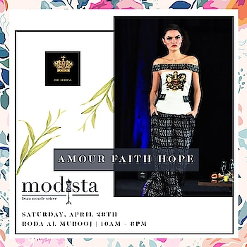 Get your fix of summer smart casuals from a kaleidoscope of designs by @amour.faith.hope at Modista on 28th April, Roda Al Murooj Dubai from 10am - 8pm !! . . #AFH #amourfaithhope #theheiress #resortwear #resortlook #afhprints #Event #Fashion #DubaiEvent #DubaiParties #Luxury #Gowns #Dresses #DXBEvents #PartySeason #PartyPreview #Modistadxb #FashionHouse #fashionLifestyle #LifestyleExhibition #RodaAlMurooj #Dubai #DubaiEvents #EventinDubai #shoppers #MyDubai