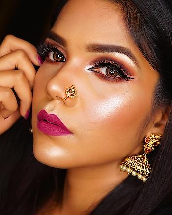 Hello Cut Crease❤️❤️ Eyelashes: @glowmierebeauty (Soho) Lipstick: @spektacosmetics (Siren) Highlighter: @vatenn_india shade 341 (white)  #snehasakya #beautyblogger  #desimakeup  #eyemakeup  #eyeshadow  #cutcrease  #glowingskin  #MakeupArtistBihar #MakeupartistPatna  #BeautyBloggerPatna #BeautyBloggerBihar #desi  #nosepins   #undiscovered_muas #undiscovered_muas  #browngirl  #soroposo  #roposolove  #lookgoodfeelgood