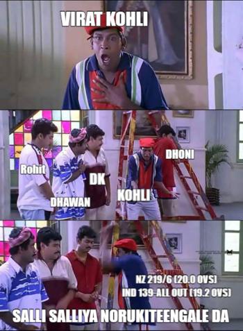 #viratkohli after seeing #teamindia  loss against Kiwis.#indvnz  #hardik  #dineshkarthik  #pandya  #tamilmemes  #vadivelu  #memes   #trolls  #trendeing