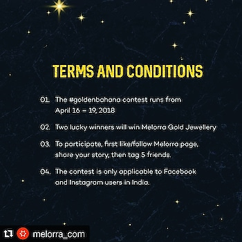 WIN GOLD JEWELLERY  #instagram #giveaway   #Repost @melorra_com (@get_repost) ・・・ Tell us, Tell us!😋 Couple of days ago we told you some crazy, witty excuses we've made to buy gold. Now it's your turn! So, hit us with the wackiest, quirkiest excuse you've come up with to shop for gold, and you might end up winning Melorra jewellery! . . . . . . . #melorra #everydayfinejewellery #contestalert #contest #goldjewellery