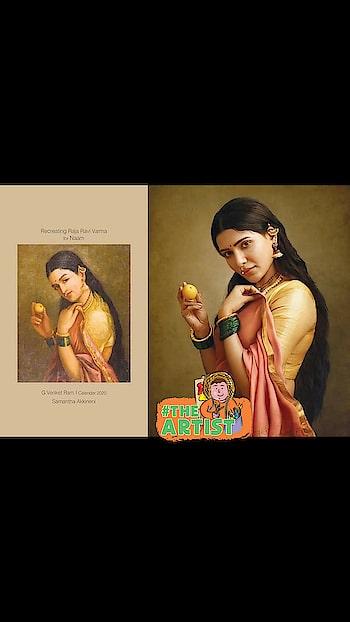#roposocreativespaces  Renowned #photographers_of_india   G Venket Ram's Calendar #2020   for Naam - Recreating Raja Ravi Varma paintings... with #southindianactress #samantha